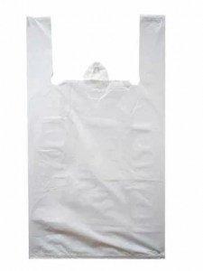 Пакет-майка 45х75(15мкм) Белая (упак/100шт)